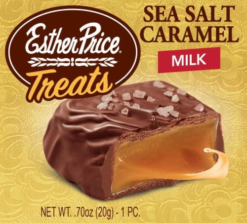 Esther Price Sea Salt Caramel Milk Chocolate Treats Perspective: front