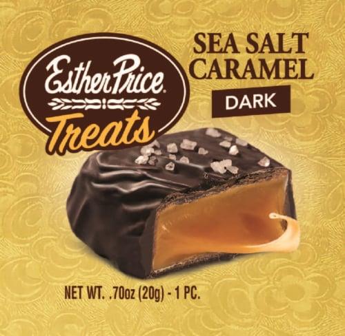 Esther Price Sea Salt Caramel Dark Chocolate Treats Perspective: front