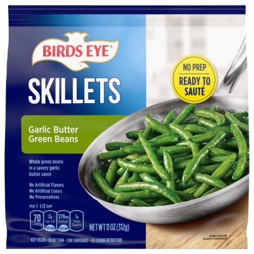 Birds Eye Skillets Garlic Butter Frozen Green Beans Perspective: front