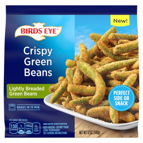 Birds Eye Crispy Lightly Breaded Frozen Green Beans Perspective: front