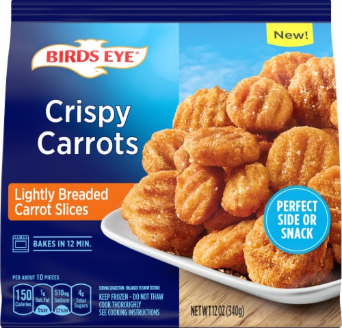 Birds Eye Crispy Lightly Breaded Carrot Slices Perspective: front
