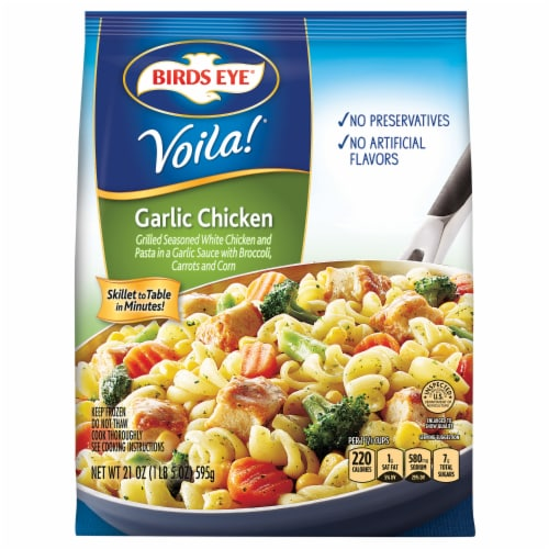 Birds Eye Voila! Garlic Chicken Frozen Meal Perspective: front