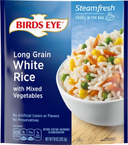 Birds Eye Steamfresh Selects Long Grain White Rice & Vegetables Perspective: front