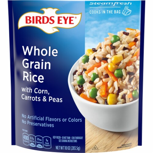 Birds Eye Steamfresh Whole Grain Rice with Vegetables Steamer Bag Perspective: front