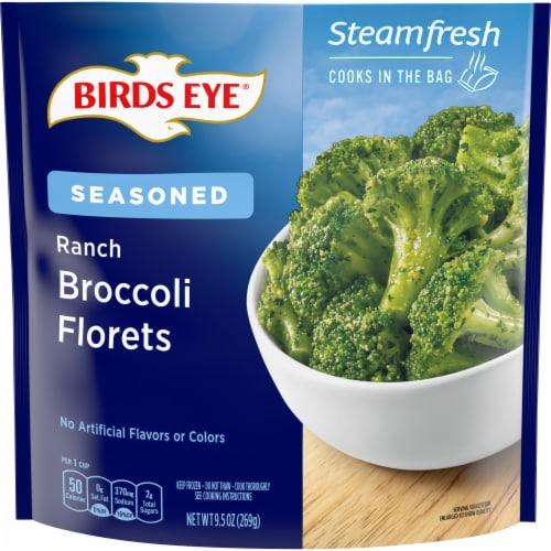 Birds Eye Steamfresh Flavor Full Ranch Broccoli Perspective: front