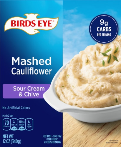 Birds Eye Veggie Made Sour Cream & Chives Mashed Cauliflower Perspective: front