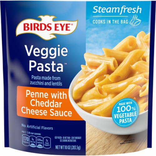 Birds Eye Veggie Made Penne with Cheddar Cheese Sauce Perspective: front