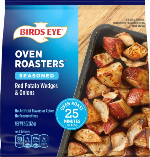 Birds Eye Oven Roasters Seasoned Red Potato Wedges & Onions Perspective: front