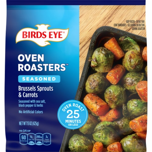 Birds Eye OvenRoasters Brussels Sprouts & Carrots Perspective: front