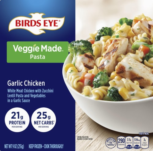 Birds Eye Veggie Made Garlic Chicken Bowl Frozen Meal Perspective: front