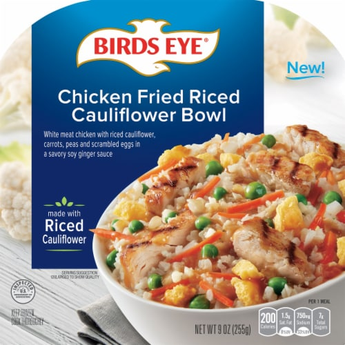 Birds Eye Chicken Fried Riced Cauliflower Bowl Frozen Meal Perspective: front