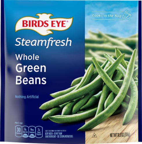Birds Eye Steamfresh Whole Green Beans Perspective: front