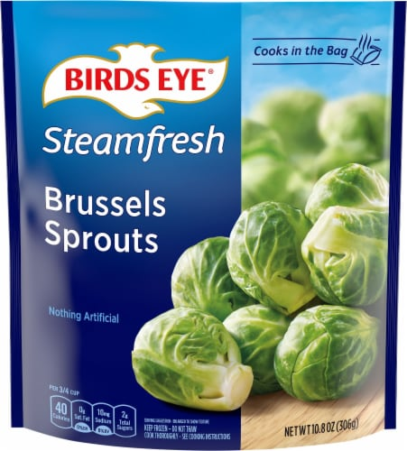 Birds Eye Steamfresh Premium Brussels Sprouts Perspective: front