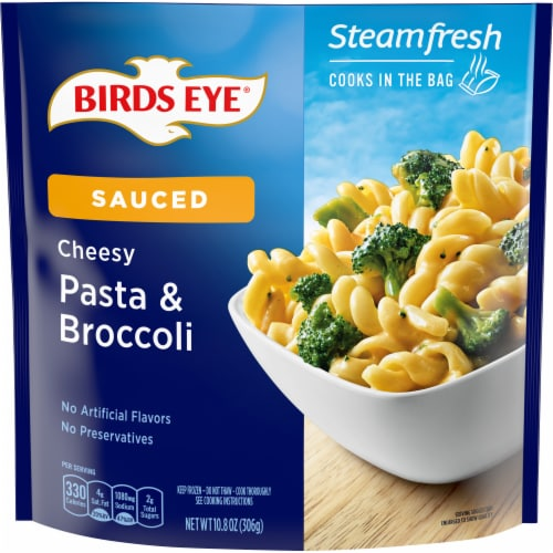Birds Eye Steamfresh Chef's Favorites Pasta & Brocccoli In Cheese Sauce Frozen Meal Perspective: front