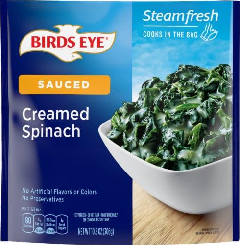 Birds Eye Steamfresh Chef's Favorites Creamed Spinach Frozen Vegetables Perspective: front
