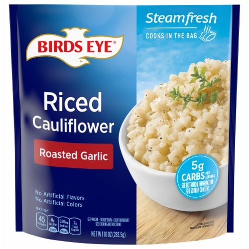 Birds Eye Steamfresh Roasted Garlic Riced Cauliflower Perspective: front