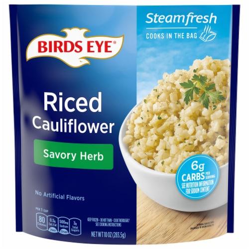 Birds Eye Steamfresh Savory Herb Riced Cauliflower Perspective: front