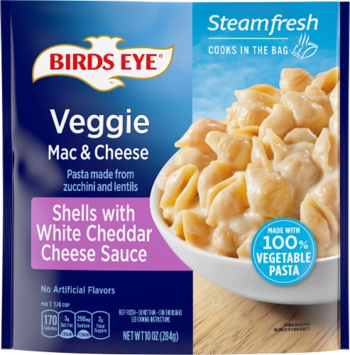Birds Eye Steamfresh Veggie Made Shell White Cheddar Mac and Cheese Perspective: front