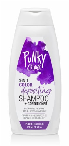 Ardell Punky Colour Purpledacious 3 in 1 Color Depositing Shampoo & Conditioner Perspective: front