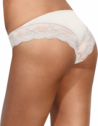 Maidenform® Comfort Devotion Women's Lace Back Tanga 40159 - White Perspective: front