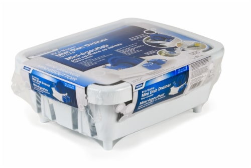 Camco RV & Marine Mini Dish Drainer Tray-Caddy - White Perspective: front