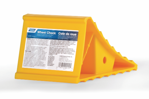 Camco Wheel Chock - Yellow Perspective: front