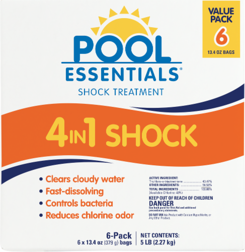 Pool Essentials 4-in-1 Shock Treatment Bags Perspective: front