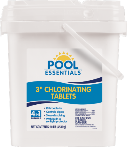 Pool Essentials Chlorinating Tablets - 10 lb Perspective: front