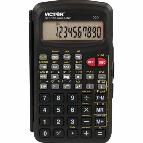 Victor 920 Compact Scientific Calculator with Hinged Case,10-Digit, Lcd 920 Perspective: front