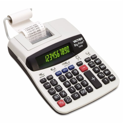 Victor Commercial Calculator,Printing,9-1/2in.L  1310 Perspective: front
