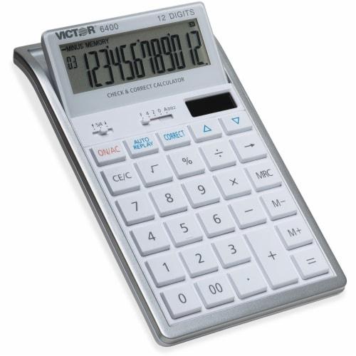 Victor 6400 Desktop Calculator, 12-Digit Lcd 6400 Perspective: front