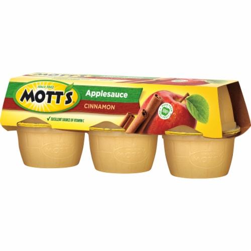 Mott's Cinnamon Applesauce Cups Perspective: front