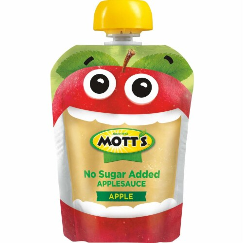 Motts Unsweete3ned Applesauce Pouch Perspective: front