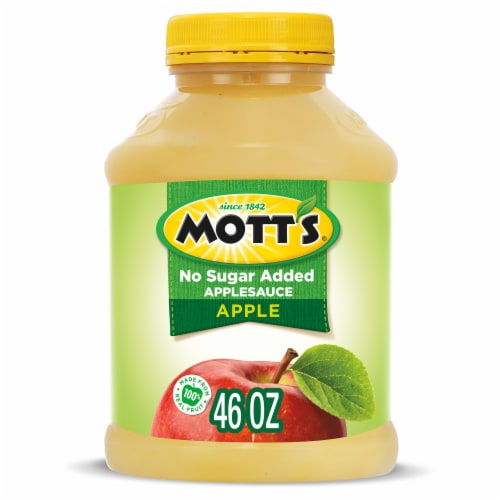 Mott's Unsweetened Applesauce Jar Perspective: front