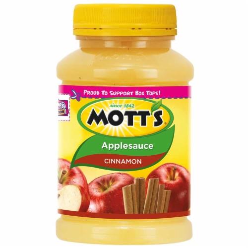 Motts Cinnamon Apple Sauce, 24 Ounce Pet Jar -- 12 per case. Perspective: front