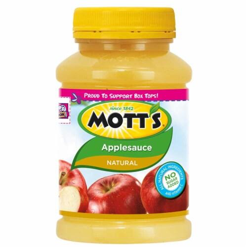 Motts Natural Apple Sauce, 23 Ounce Pet Jar -- 12 per case. Perspective: front