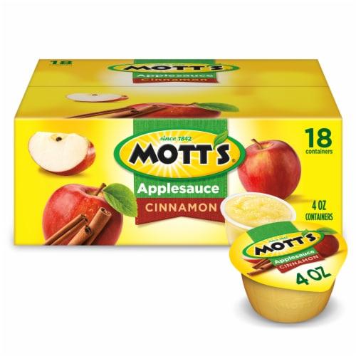 Mott's Cinnamon Applesauce Cups 18 Count Perspective: front