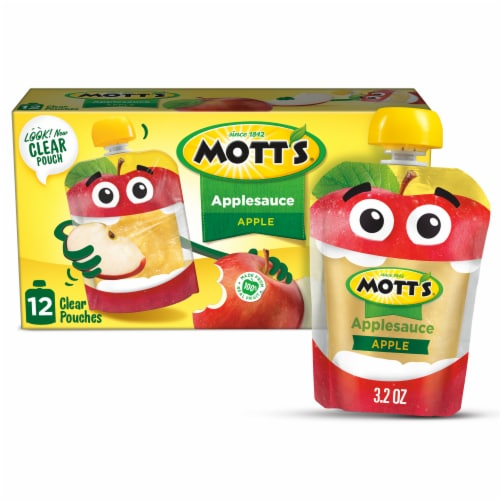 Mott's Applesauce Pouches 12 Count Perspective: front