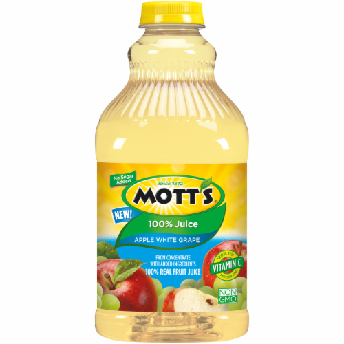 Mott's No Sugar Added Apple White Grape Juice Perspective: front