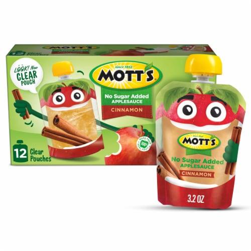 Mott's No Sugar Added Cinnamon Applesauce Perspective: front