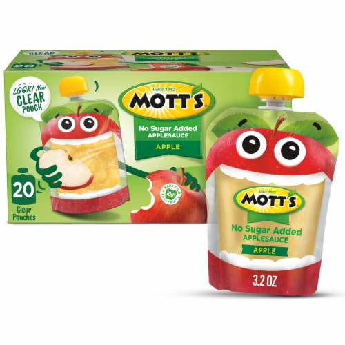 Mott's No Sugar Added Applesauce Pouches Perspective: front