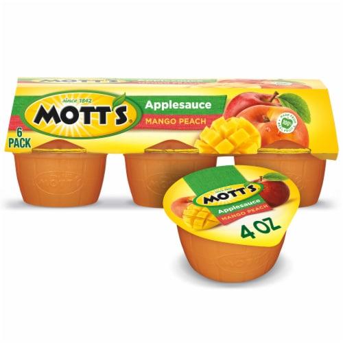 Mott's Mango Peach Apple Sauce Cups Perspective: front