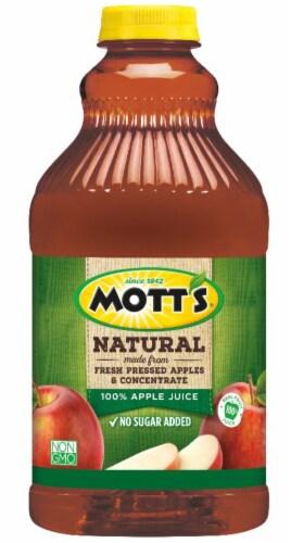 Mott's Natural 100% Apple Juice Perspective: front