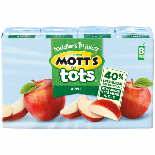 Mott's for Tots Apple Juice Boxes Perspective: front