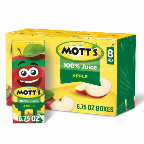 Mott's 100% Original Apple Juice Boxes Perspective: front