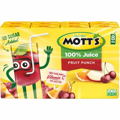 Mott's® Fruit Punch 100% Juice Boxes Perspective: front