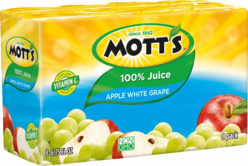 Motts White Grape Apple Juice Perspective: front