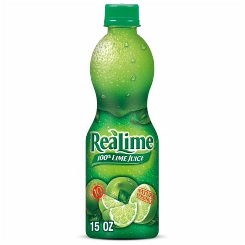 ReaLime 100% Lime Juice Perspective: front