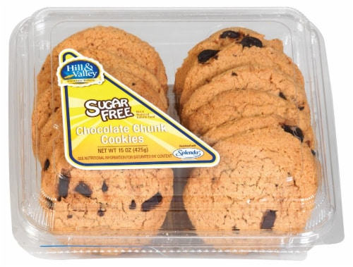 Hill & Valley Chocolate Chip Cookies 12 Count Perspective: front