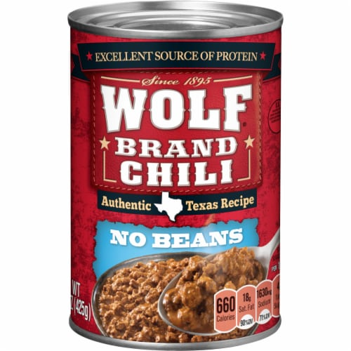 Wolf Authentic Texas Recipe No Beans Chili Perspective: front